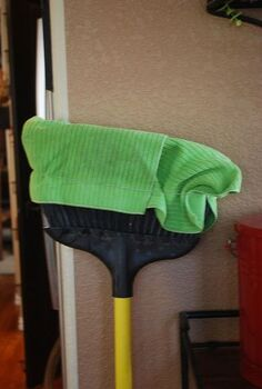 cleaning 2 story interior windows, cleaning tips, windows, It s a microfiber towel with a rubberband over the broom