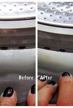 cleaning your he washer with household products, appliances, cleaning tips, Before cleaning and after WOW