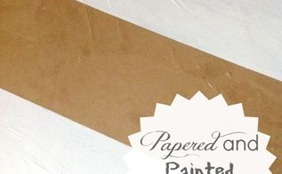 papered and painted diy flooring, flooring, painting