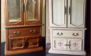 jewelry box goes from shabby to chic, chalk paint, painted furniture
