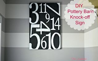 diy pottery barn inspired sign, crafts