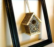 birdhouse frame decor piece, crafts, decoupage