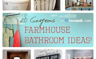 farmhouse bathroom inspiration clipboard, home decor, storage ideas