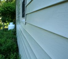 how to clean vinyl siding, cleaning tips, curb appeal, Ah literally squeaky clean