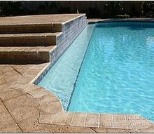 using pavers is the easiest way to build those steps in your pool deck, concrete masonry, decks, outdoor living, pool designs, The easiest way to build those steps on your new or remodeled deck Artistic Paver is here to help with all your questions Contact us or visit our website