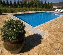 pavers easy installation and beautiful pool decks, decks, outdoor living, pool designs, Paver Stonelock Sandstone