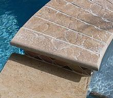 a spillway on your pool spa with no cuts just use the 3 sided bullnose paver easy, concrete masonry, decks, outdoor living, pool designs, spas, Three sided bullnose coping paver The perfect end for your spa spillway And it will match your pool deck No cuts needed Fast and easy to install