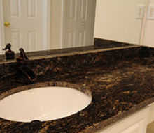 q asterix what color would you pick for your master bath countertop to go with your, countertops