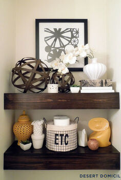 diy 15 chunky wooden floating shelves, home decor, shelving ideas, woodworking projects, DIY 15 chunky wooden floating shelves