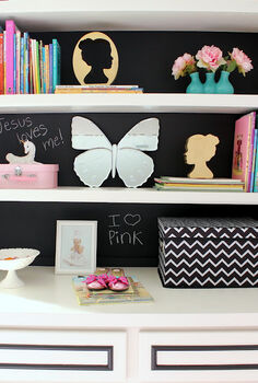 chalkboard paint on bookcases, chalk paint, chalkboard paint, painting, storage ideas