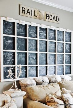 chalkboard wall calendar, chalkboard paint, crafts, wall decor, windows
