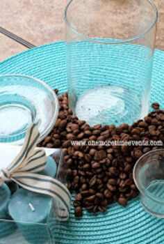 quick and easy cylinder coffee bean center piece, home decor, Supplies you will need