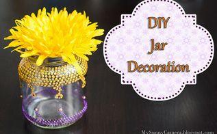diy glass jar decoration, crafts