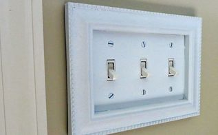 switch plate upgrade, home decor, lighting, repurposing upcycling, After gluing and painting