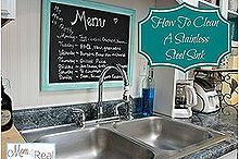 how to clean your stainless steel kitchen sink, cleaning tips, kitchen design, Clean sink