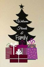 chalkboard fabric christmas tree for the kitchen diy, chalkboard paint, christmas decorations, crafts, seasonal holiday decor, For the holidays make a chalkboard fabric Christmas tree that s ideal for family and friends to have fun with