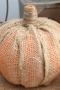 make your own burlap pumpkin, crafts, seasonal holiday decor