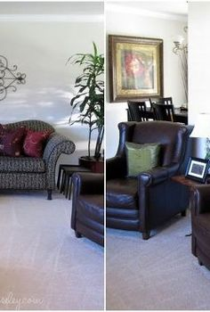 living room updates, diy, living room ideas, painted furniture, Our living room before