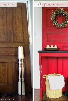 old door diy modern country entry table, doors, painted furniture