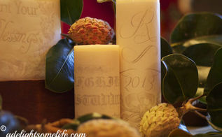 seasonal candle decor thrifty idea, crafts, seasonal holiday decor