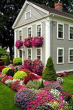 wish i had that spring, flowers, gardening, landscape, outdoor living, Beautiful house with flowers