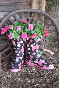 flower boots, flowers, gardening, Flower rain boots