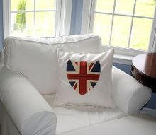union jack shield pillow, crafts, Union Jack Pillow