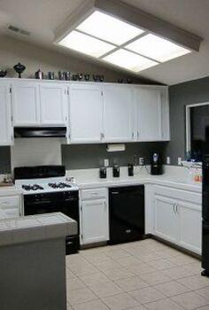diy concrete kit to cover ceramic tile countertops, concrete countertops, countertops, home decor, tiling, Before