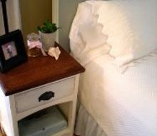turn an old door into a gorgeous headboard, bedroom ideas, doors, repurposing upcycling, Little decorative touches in the same colour as the new headboard tie the whole look together in the bedroom