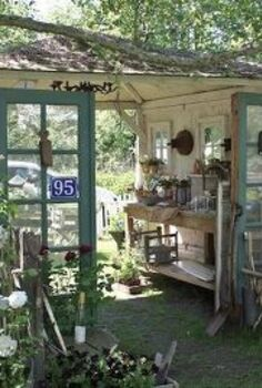 garden decor, doors, outdoor living, This is what I really want it to look like but with the back closed in