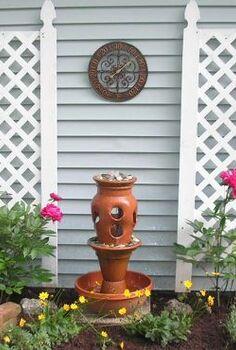 terra cotta pot fountain, diy, gardening, how to, outdoor living