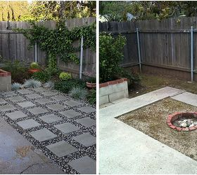 Captivating Patio Makeover Using Concrete Pavers And Gravel, Outdoor Living, Patio, Patio  Makeover Using