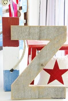 how to make a barn letter, woodworking projects, Barn Wood Letter