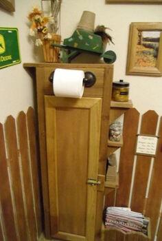 rustic bathroom decorating, bathroom ideas, home decor, small bathroom ideas, custom sized toilet paper storage