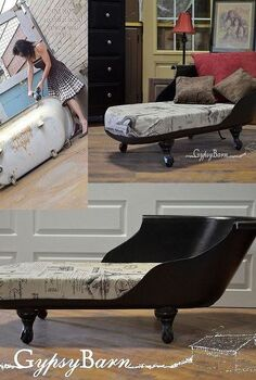 rusty dirty clawfoot tub to beautiful french settee, diy, painted furniture, repurposing upcycling, the picture of me in heels and using the cutter um do not try that at home alone or without proper protection that was just us having a fun photo shoot Wait until you see all the amazing photos to come Stay tuned