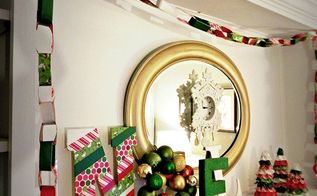 a new way to make chain garlands, crafts, Hang the garland just like you would a paper chain