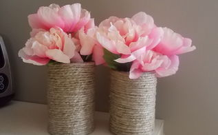 things you can do with a tin can, crafts, Use as vase