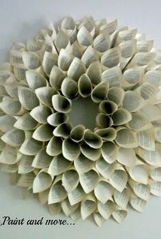 book page wreath tutorial, crafts, wreaths