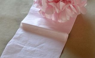 how to make tissue paper pom poms in different sizes, crafts, Different sized tissue paper and the amount of sheets used will determine different sized pom poms