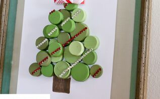 bottle cap chrsitmas tree, christmas decorations, crafts, seasonal holiday decor