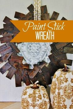 paint stick wreath, crafts, repurposing upcycling, wreaths