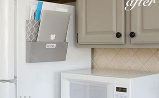 quick kitchen organization, kitchen design, organizing, Organizer to hold junk mail and laptop