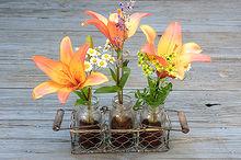 coffee used grounds and mason jar flower vase, crafts, flowers, gardening, mason jars, repurposing upcycling