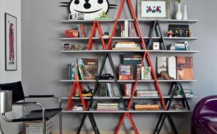 diy ladder project ideas, repurposing upcycling, shelving ideas, storage ideas, Well this is not a real old ladder but a ladder themed rack Still I adore the idea In my view it would fit nicely in a contemporary home