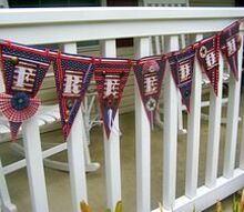 make this patriotic freedom banner to celebrate the fourth of july, crafts, patriotic decor ideas, seasonal holiday decor, Patriotic Banner by mamas little treasures