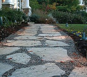 Natural Flagstone Patio Amp Fire Pit, Outdoor Living, Patio, We Modified  The Existing