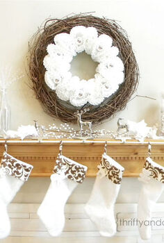 solution for hanging multiple stockings, seasonal holiday decor
