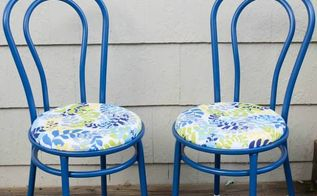 how to paint rusted metal chairs, painted furniture, After