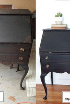 traditional secretary desk, painted furniture