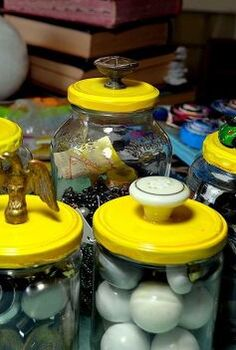 funked up upcycled containers, crafts, repurposing upcycling, Oh the Fun of it all